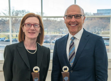 Professor Margaret Murnane and technology innovator David McCourt