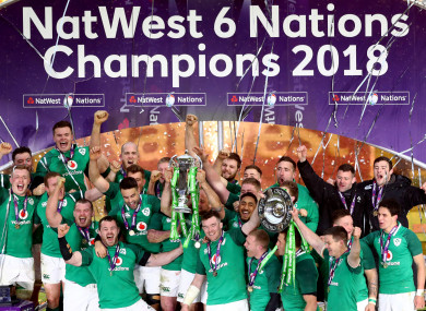 Ireland were crowned Six Nations champions yesterday at Twickenham.