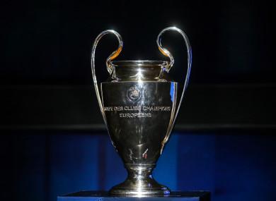 Champions League trophy (file pic).