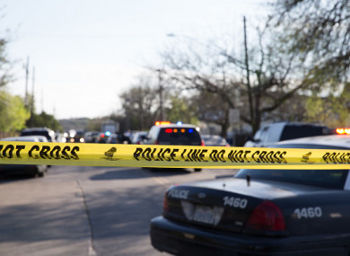 Police in Austin respond to reports of an explosion earlier this month.