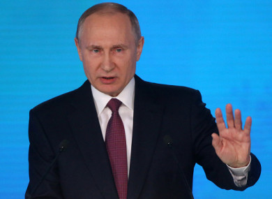Listen To Us Now Vladimir Putin Says Russia Now Has Invincible Weapons