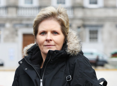 Lesley-Anne Stephens at a protest outside Leinster House by Mesh Survivors Ireland in January.