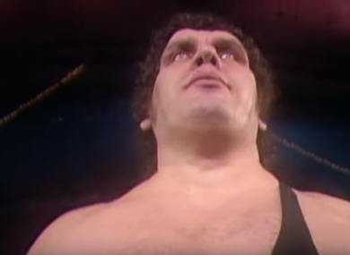 A screengrab from the Andre The Giant documentary.