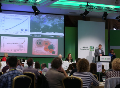 The Citizens' Assembly discussing climate change last October