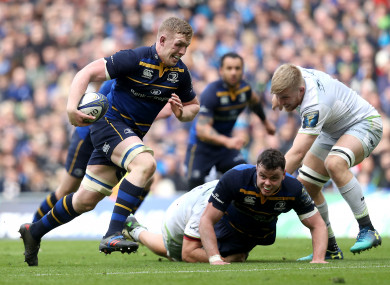 Leavy broke through for Leinster's second try yesterday.