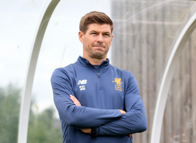 Gerrard is currently managing Liverpool's U18s.