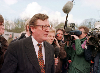David Trimble served as leader of the Ulster Unionist Party.
