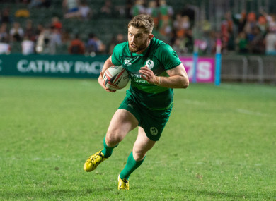 Ireland's Ian Fitzpatrick in action at the HSBC World Rugby Sevens Series.