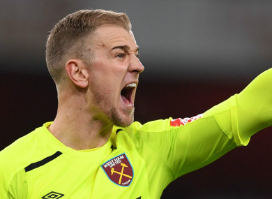 Joe Hart (file pic).