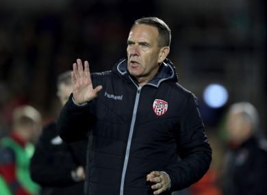 Derry boss Kenny Shiels.
