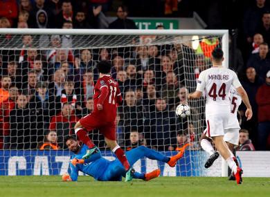 Mo Salah scored a brace against Roma tonight.