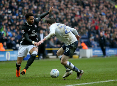 Cyrus Christie in action with Fulham.