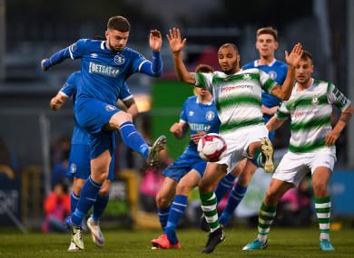Goalscorer Danny Morrissey in action for Limerick on Friday night.
