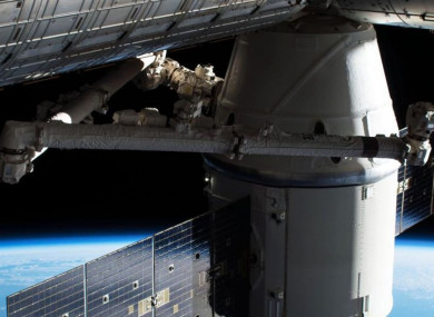 The Dragon capsule at the ISS