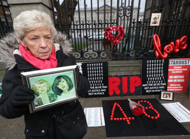 Christine Keegan, whose daughters Mary and Martina were among those who died in the fire/