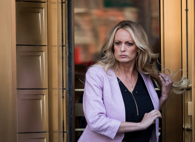 Stormy Daniels exits the United States District Court of New York for a hearing related to Michael Cohen, President Trump's longtime personal attorney and confidante.
