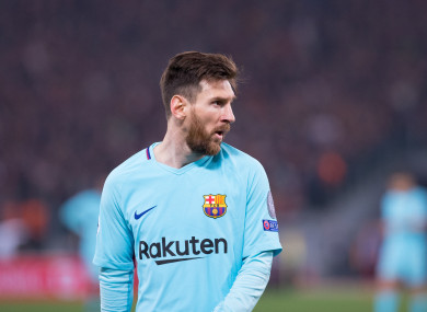 Lionel Messi was unable to prevent a disastrous midweek Champions League exit for Barcelona.