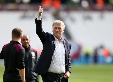 Moyes kept the Hammers in the Premier League.
