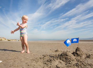 Farrah Culhane (3) at Seapoint, Co Dublin which has retained its Blue Flag status.