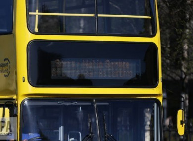 The incident took place on a Route 184 bus, file photo.