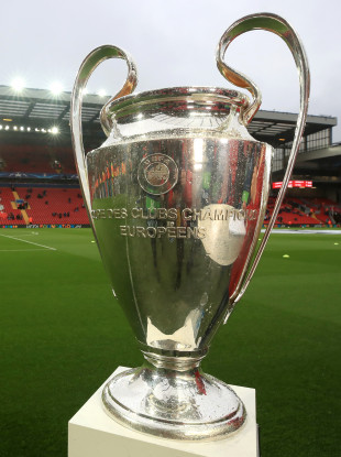 The Champions League trophy (file pic).