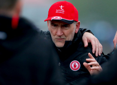 Mickey Harte has been in charge of the Tyrone footballers since 2003 and has won three All Ireland titles with the county.