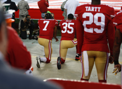 The NFL has moved to outlaw kneeling during the US national anthem.