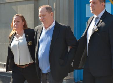 Weinstein surrendered himself to police today.