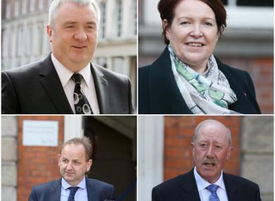 Clockwise from top left: David Taylor, Nóirín O'Sullivan, Martin Callinan and Maurice McCabe
