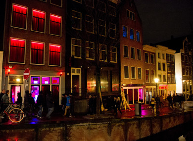 Red Light Street Wallen in Amsterdam.
