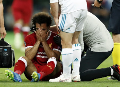 Salah suffered the injury during the second half in Kiev.