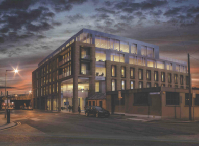 Artist's impression of proposed building