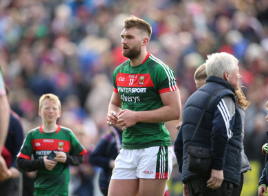Aidan O'Shea pictured after his side fell to Galway in the Connacht SFC quarter-finals.
