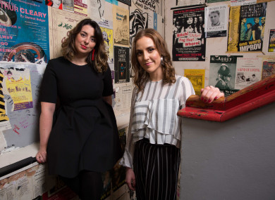 Julie Kelleher and Louise O'Neil at the Everyman in Cork