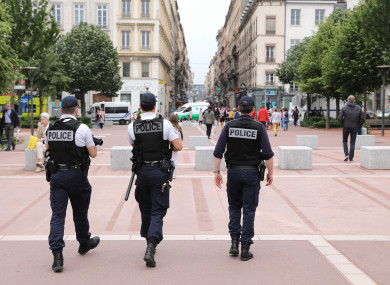 File photo. French police