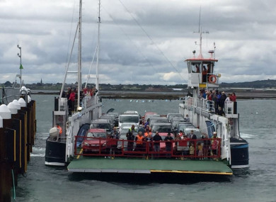 The inaugural Scenic Carlingford Ferry service arrives at Greencastle, Co Down, in July 2017.