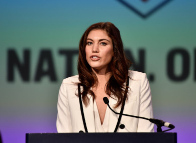 Hope Solo during US Soccer's Annual General Meeting (AGM) at the Renaissance Orlando last February.