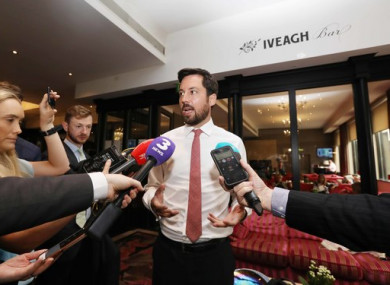 Housing Minister Eoghan Murphy speaking ahead of his address to the ICSH AGM today.