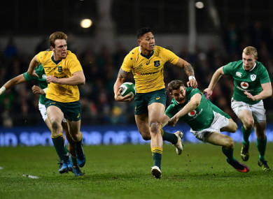 Folau in action against Ireland back in 2016.