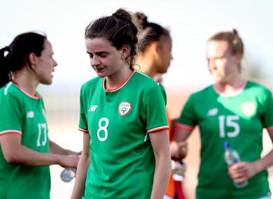 Leanne Kiernan looking dejected after the final whistle.