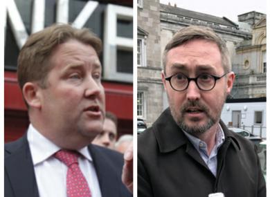 Fianna Fáils's Darragh O'Brien (left) and Sinn Féin's Eoin Ó Broin (Right).