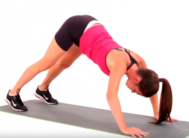 The pike push-up is a great way to vary your work out.