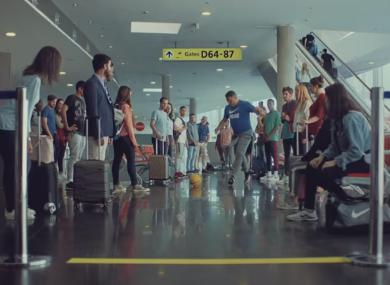 Ronaldo in the new ad.