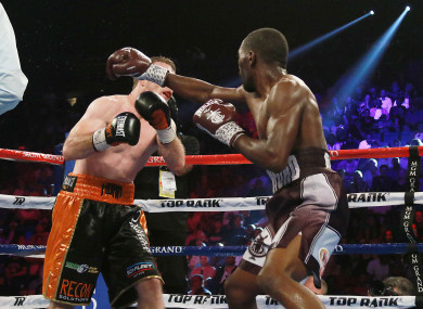 Terrence Crawford defeats WBO Welterweight Champion Jeff Horner via KO in the Ninth round of their WBO Welterweight title fight.
