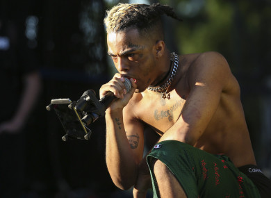 XXXTentacion performs during the second day of the Rolling Loud Festival in downtown Miami in May last year.