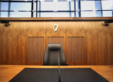 File photo of a courtroom in the Criminal Courts of Justice, Dublin