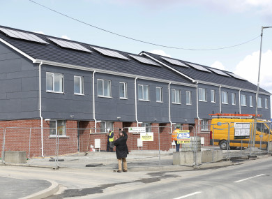 Ballymun site of the recently completed rapid-build homes