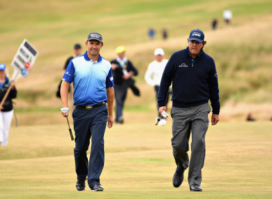 Mickelson with Pádraig Harrington at this week's Scottish Open.