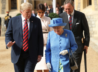 Queen Elizabeth II hosted the US President on Friday.