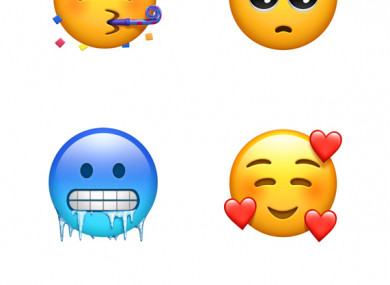 Some of the new emojis.